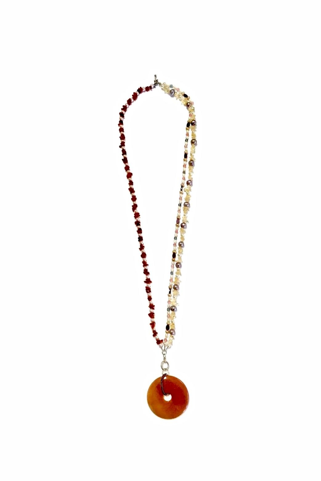 Love's Hangover Creations Carnelian Necklace - Front Full Image