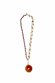Love's Hangover Creations Carnelian Necklace - Front full body
