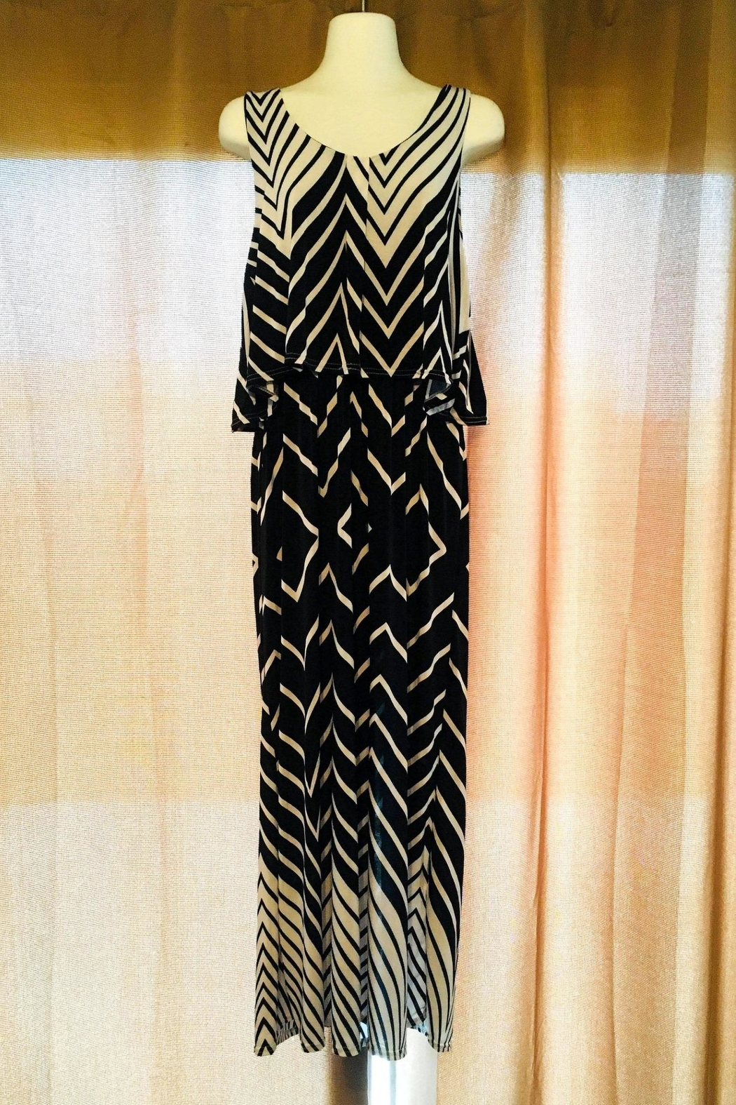 Love's Hangover Creations Chevron Maxi Dress - Front Cropped Image