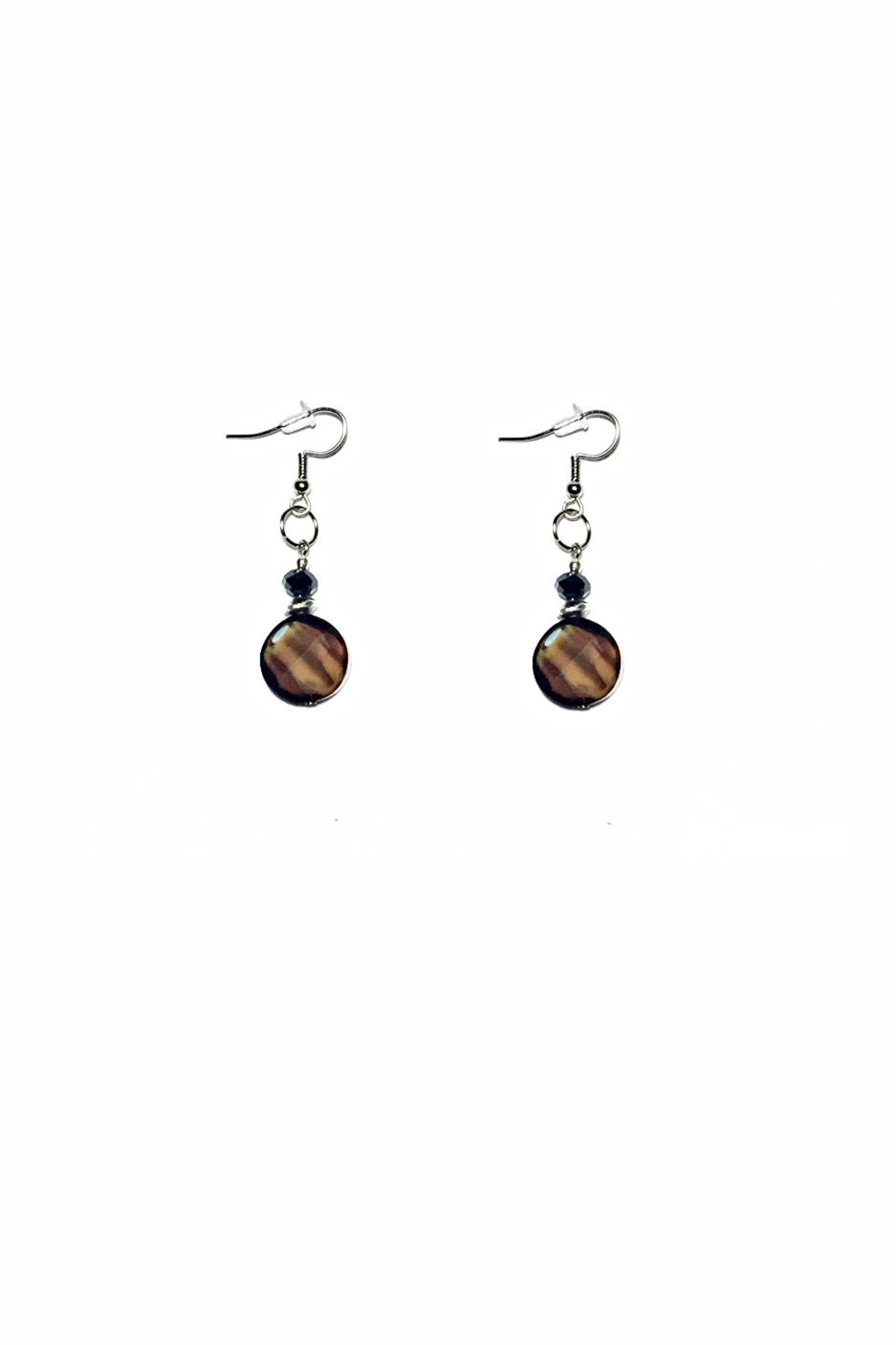 Love's Hangover Creations Coffee Brown Earrings - Front Cropped Image