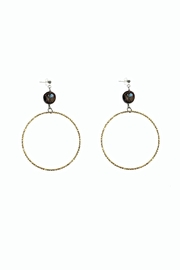 Love's Hangover Creations Coffee Hoop Earrings - Product Mini Image