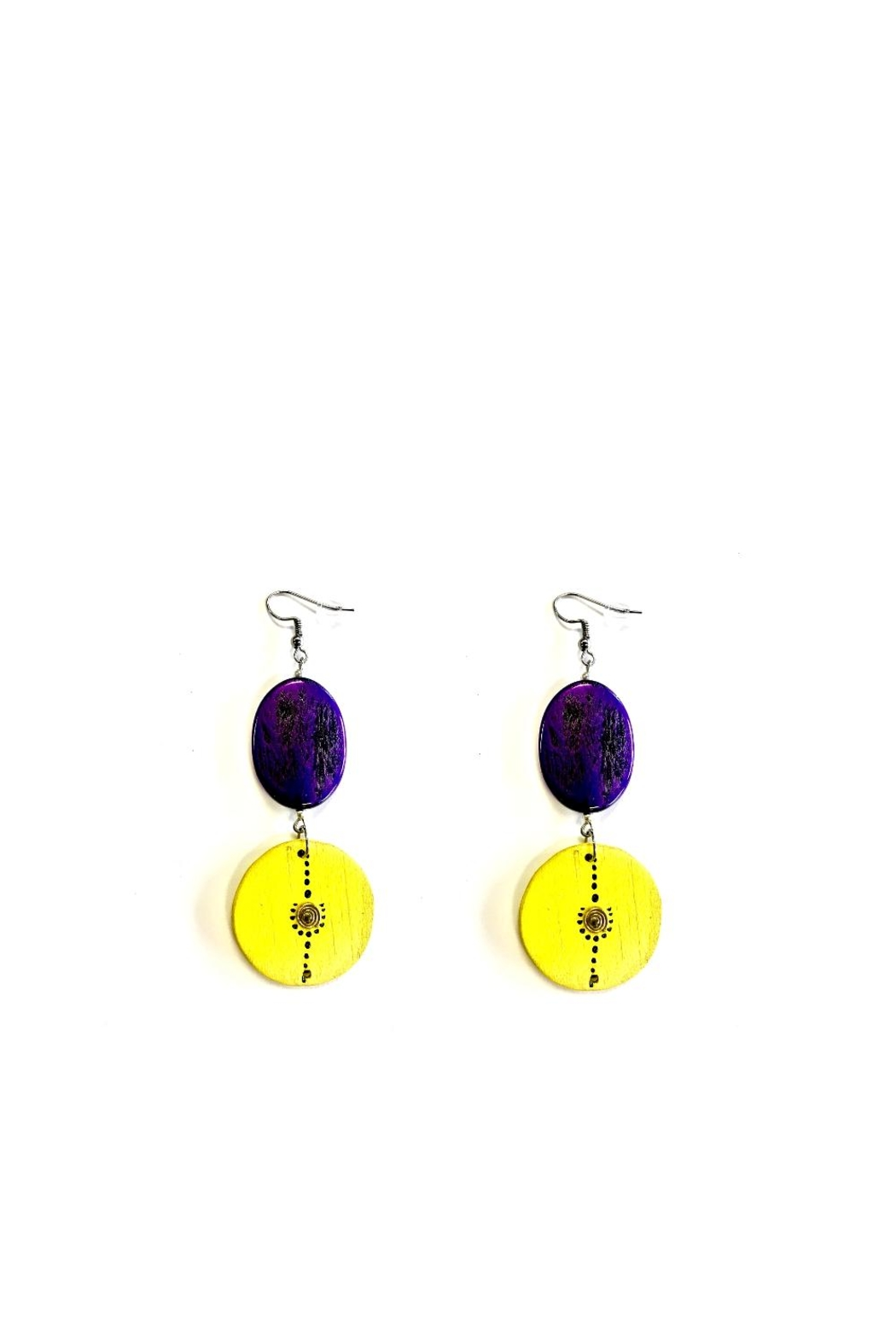 Love's Hangover Creations Color Block Earrings - Main Image
