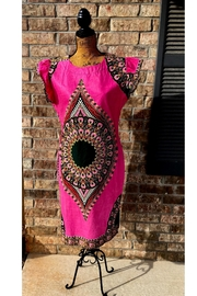 Love's Hangover Creations Dashiki Peacock Dress - Front cropped