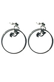 Love's Hangover Creations Dove Hoop Earrings - Front cropped