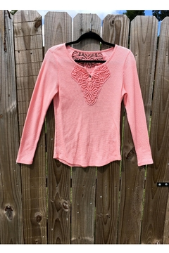 Love's Hangover Creations Embroidered Pink Top - Alternate List Image