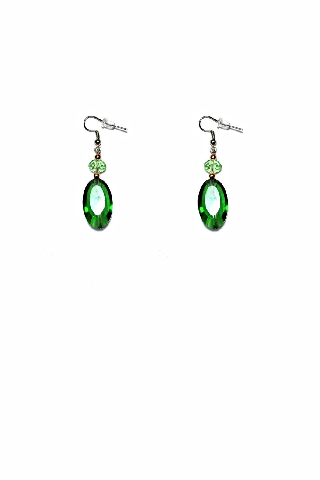 Love's Hangover Creations Emerald City Earrings - Front Cropped Image