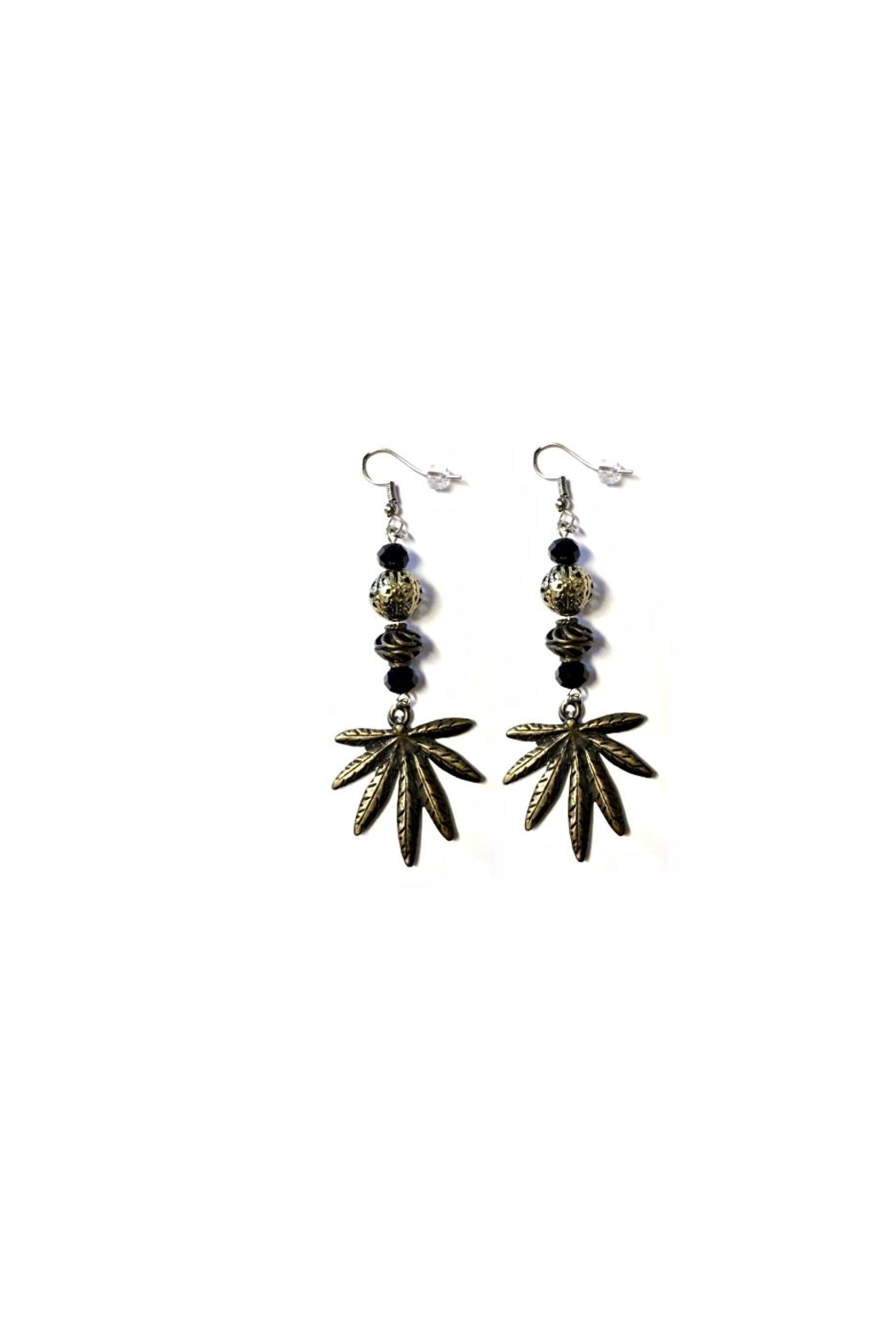 Love's Hangover Creations Ganja Leaf Earrings - Main Image