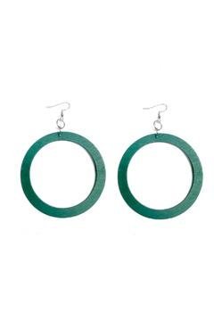Shoptiques Product: Green Wooden Earrings