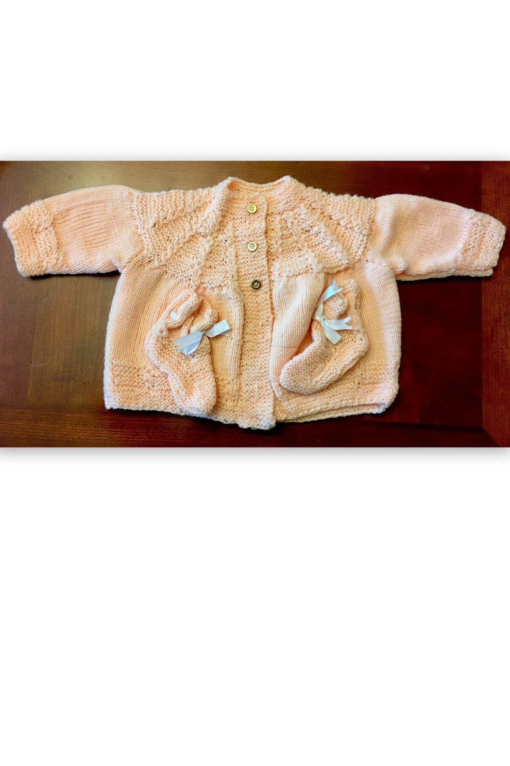 Love's Hangover Creations Hand-Knitted Baby Cardigan - Main Image