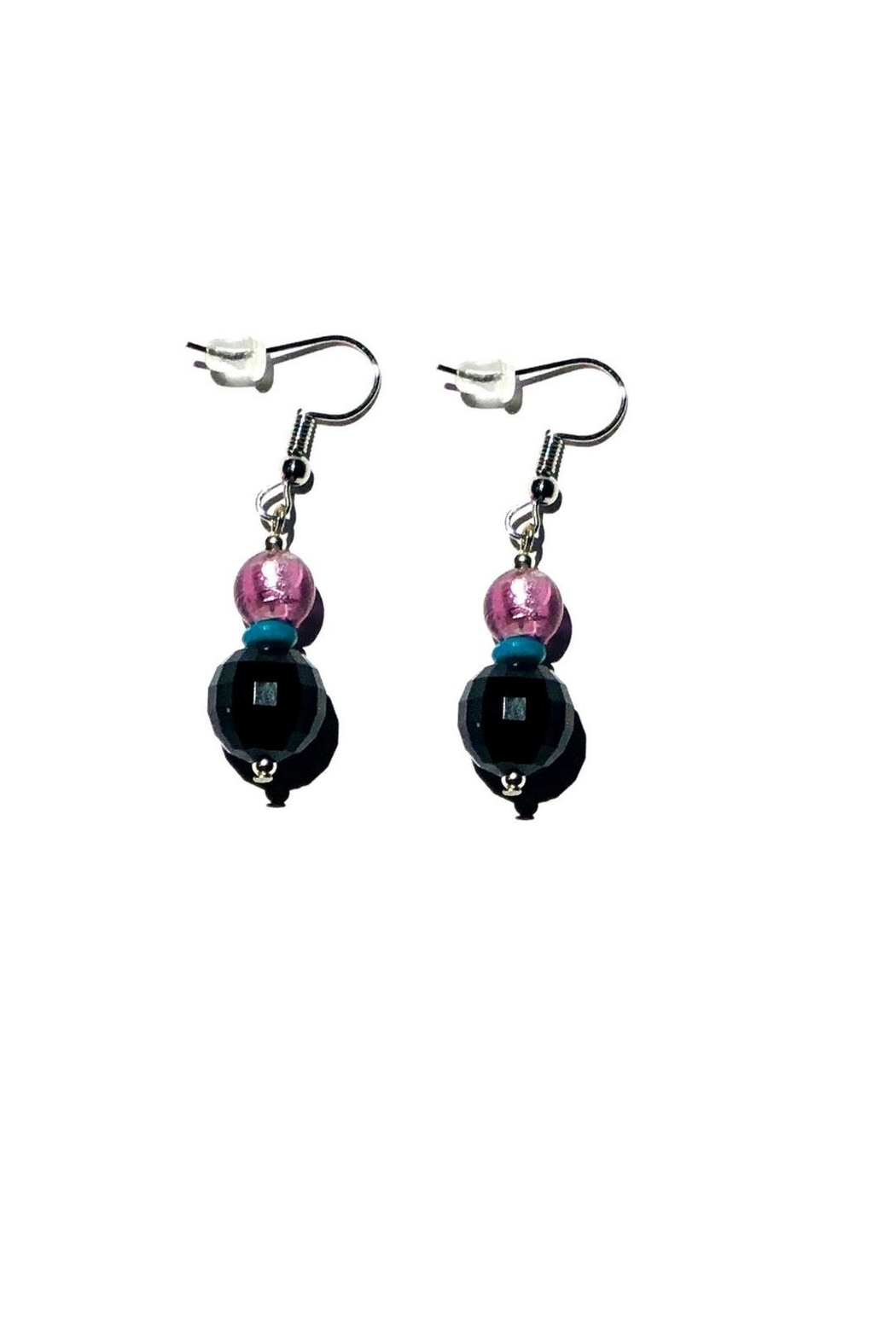 Love's Hangover Creations Handcrafted Purple Earrings - Main Image