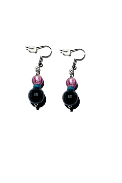 Love's Hangover Creations Handcrafted Purple Earrings - Alternate List Image