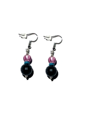 Love's Hangover Creations Handcrafted Purple Earrings - Front cropped