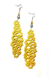 Love's Hangover Creations Handmade Crochet Earrings - Front cropped