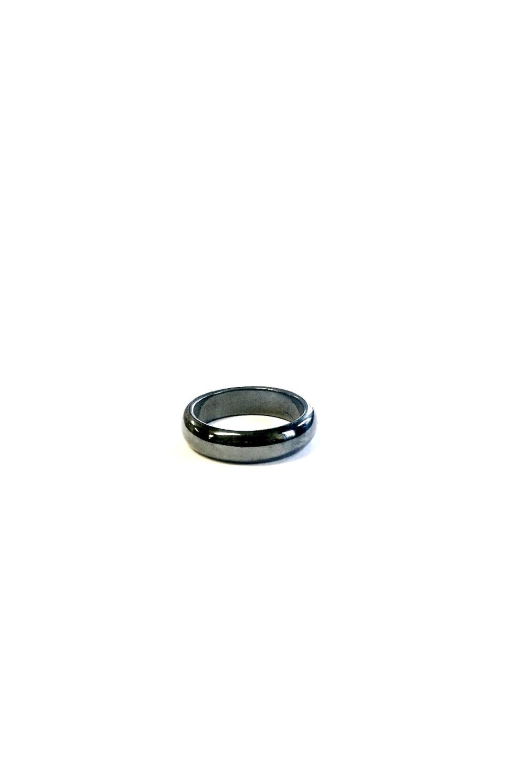 Love's Hangover Creations Hematite Ring - Front Cropped Image