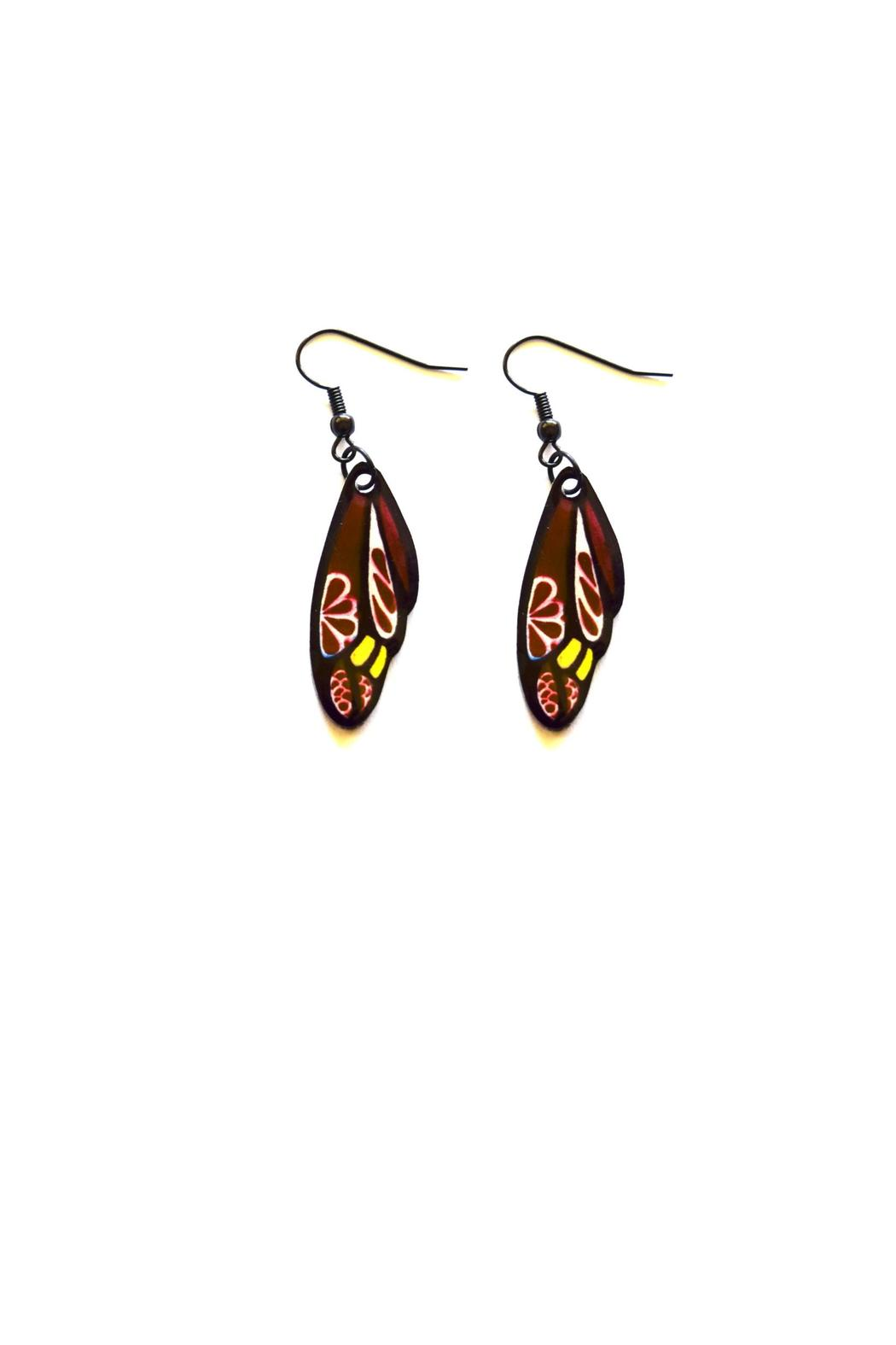 Love's Hangover Creations Indy Butterfly Earrings - Front Cropped Image