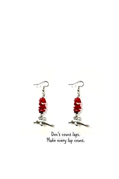 Love's Hangover Creations Jade Dolphin Earrings - Alternate List Image