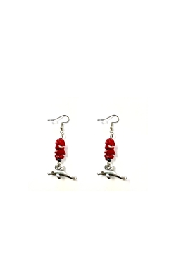 Love's Hangover Creations Jade Dolphin Earrings - Product List Image