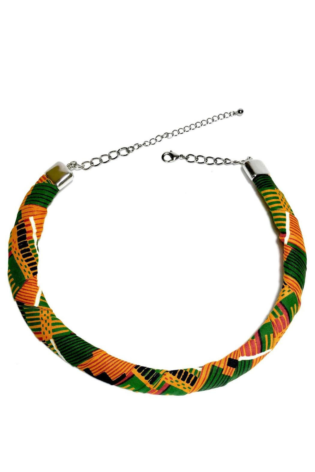 Love's Hangover Creations Kente Choker Necklace - Front Cropped Image