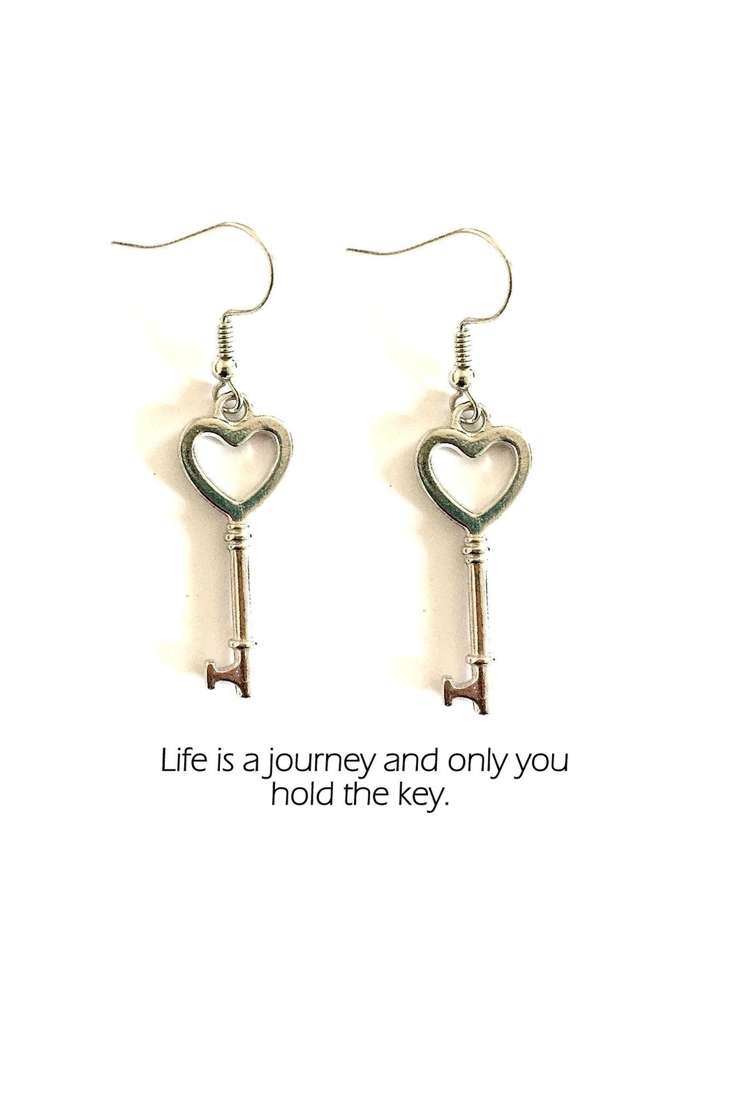 Love's Hangover Creations Key Charm Earrings - Main Image