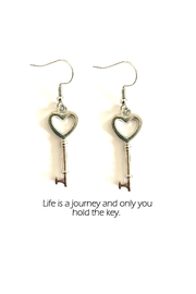 Love's Hangover Creations Key Charm Earrings - Front cropped