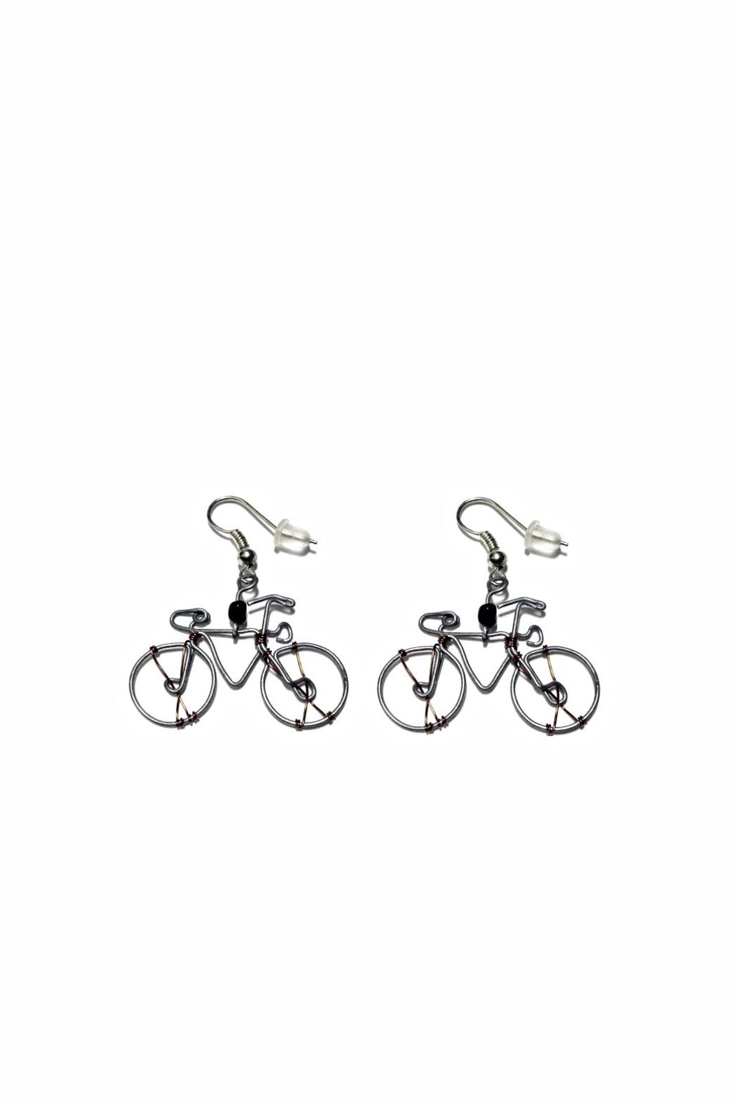 Love's Hangover Creations Kisumu Bicycle Earrings - Front Cropped Image