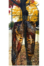 Love's Hangover Creations Leopard Print Scarf - Front cropped