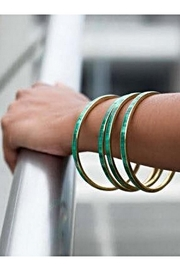 Love's Hangover Creations Malachite Bangles - Front cropped