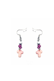 Love's Hangover Creations Mother-Of-Pearl Cross Earrings - Product Mini Image