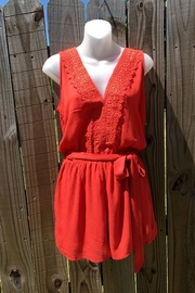 Love's Hangover Creations Orange Romper - Front cropped