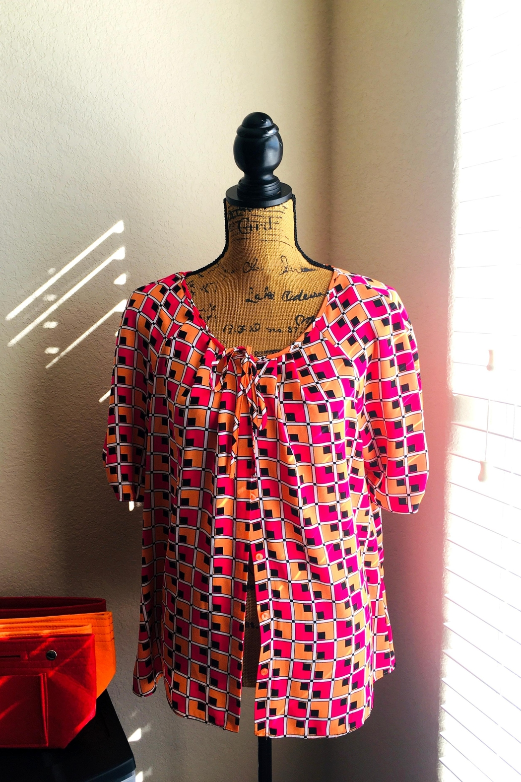 Love's Hangover Creations Patterned Button Blouse - Main Image