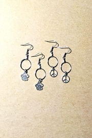Love's Hangover Creations Paws-And-Peace Hoop-Earring Set - Product Mini Image
