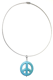Love's Hangover Creations Peace Charm Choker-Necklace - Front cropped