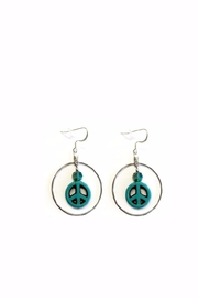 Love's Hangover Creations Peace Charm Earrings - Product Mini Image