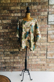 Love's Hangover Creations Peacock Kaftan Top - Front cropped