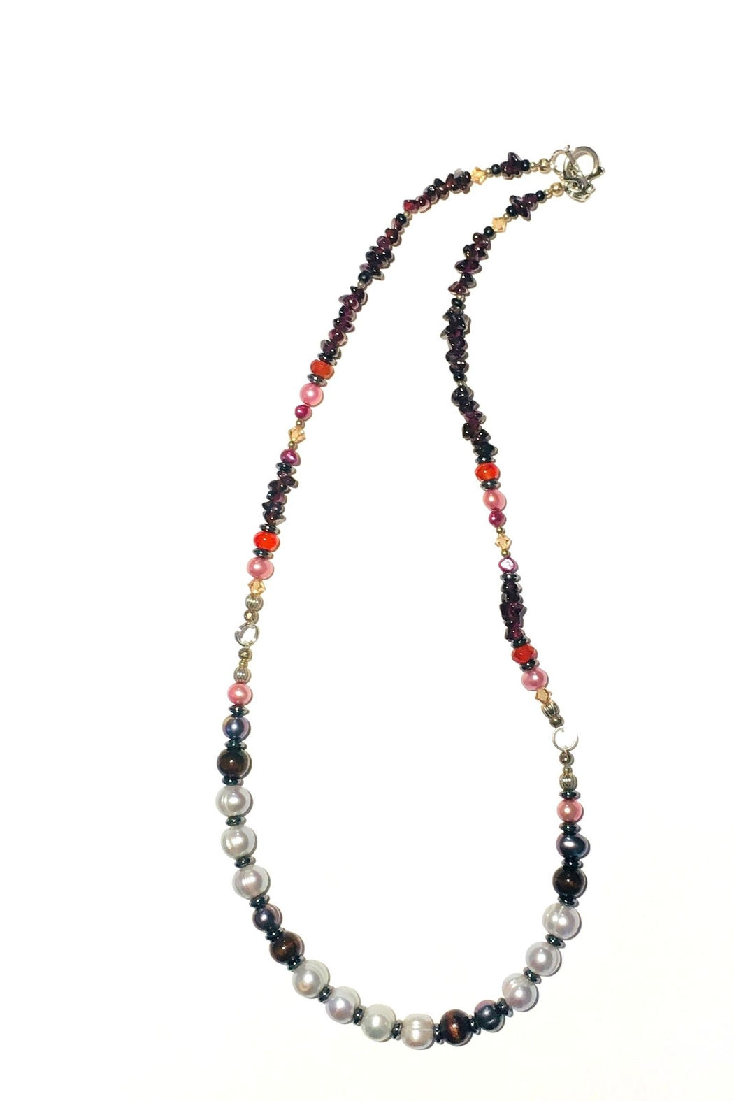 Love's Hangover Creations Pearl Gemstone Necklace - Main Image