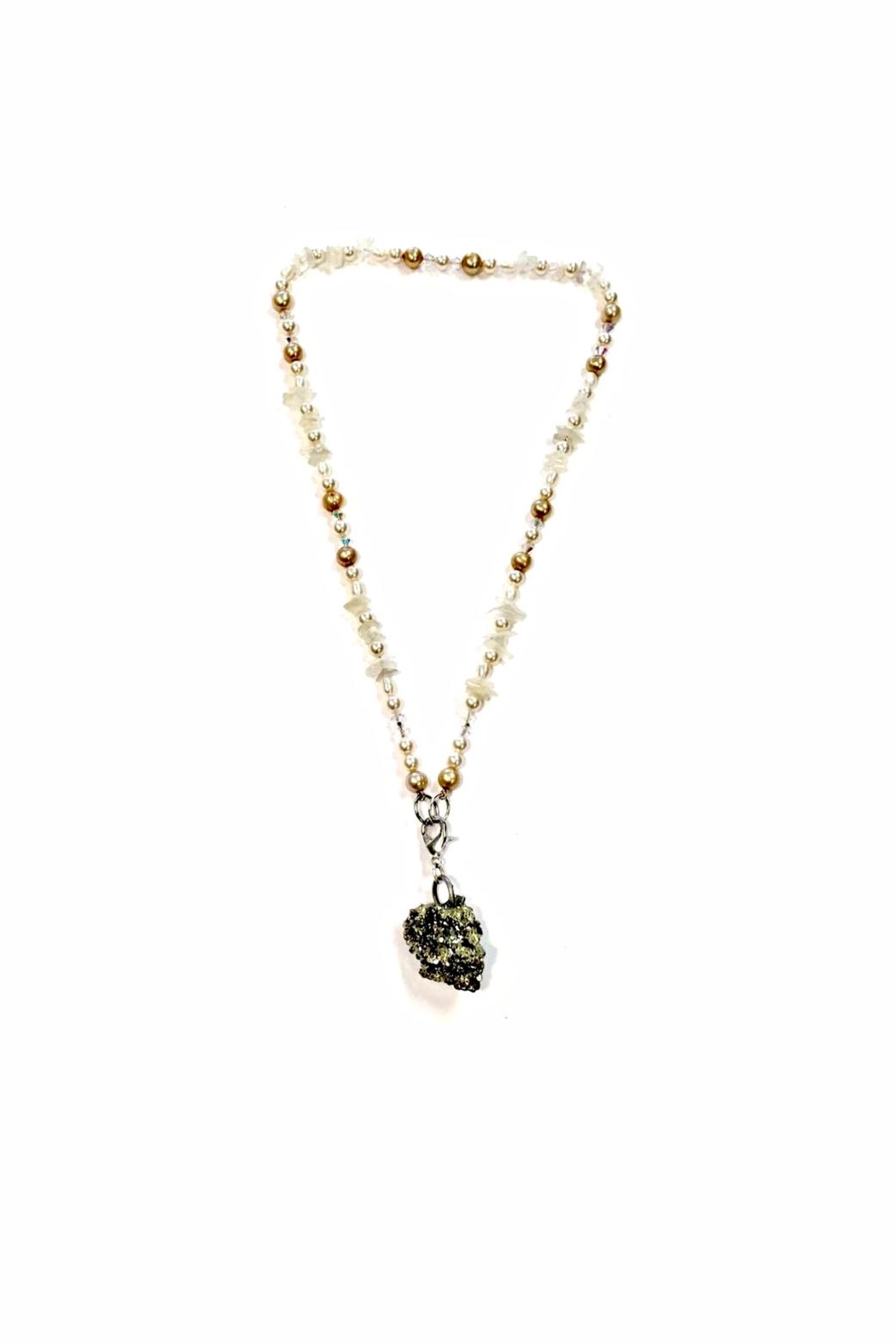 Love's Hangover Creations Pearl Pyrite Necklace - Main Image