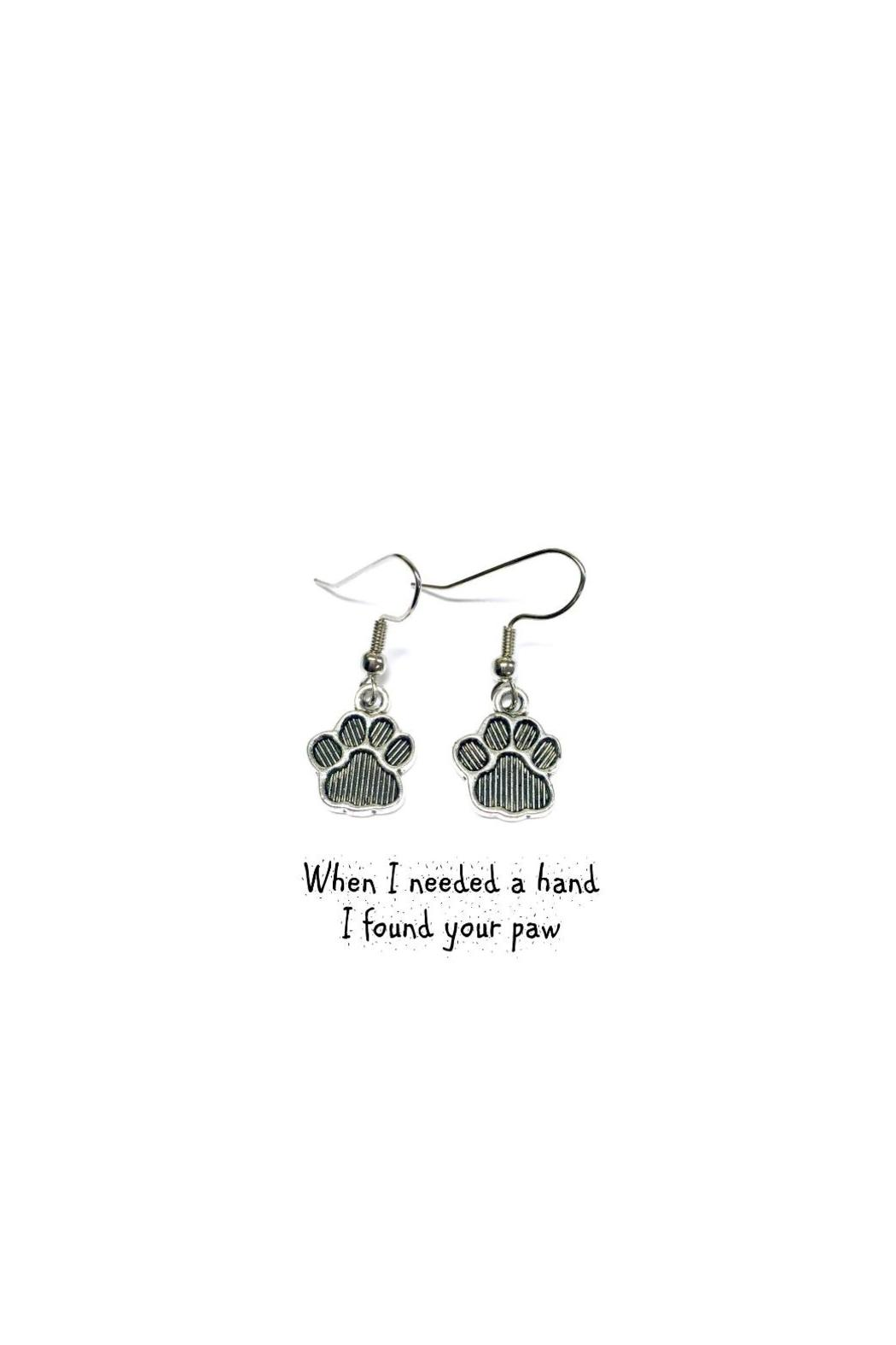 Love's Hangover Creations Pet Mom Earrings - Front Cropped Image