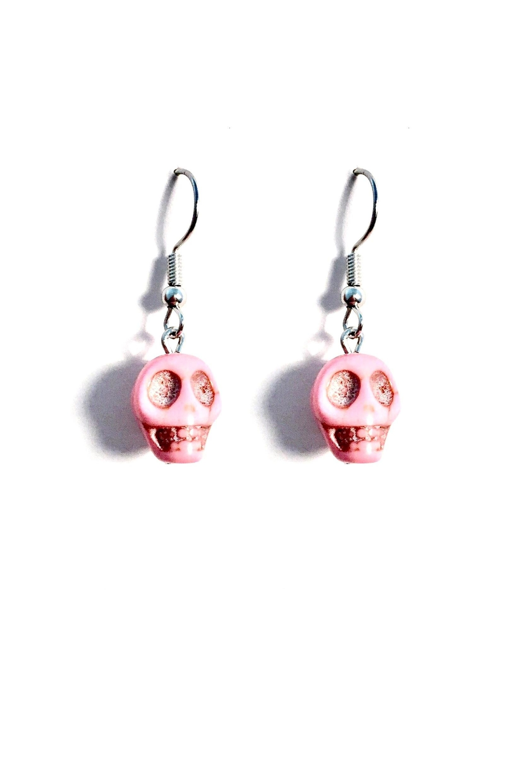 Love's Hangover Creations Pink Skull Earrings - Main Image