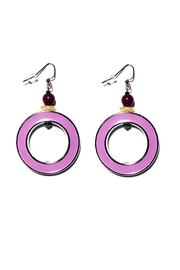 Love's Hangover Creations Purple 80s Hoops - Product Mini Image