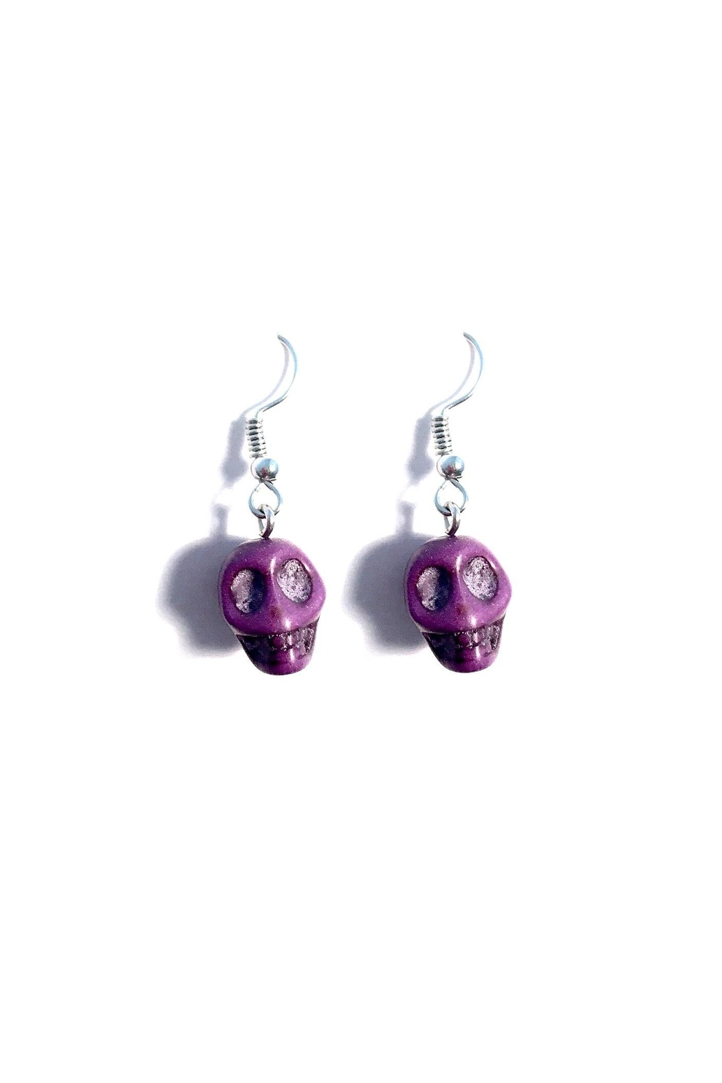 Love's Hangover Creations Purple Skull Earrings - Main Image