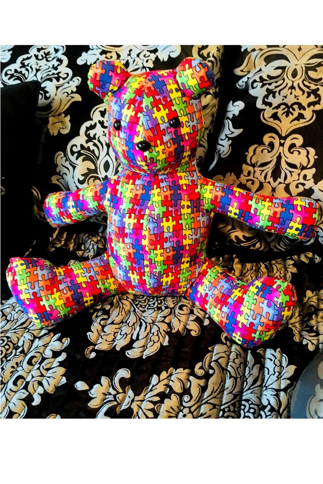 Love's Hangover Creations Puzzle Cuddle Bear - Main Image