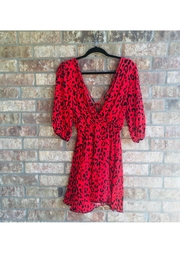 Love's Hangover Creations Red Animal-Print Dress - Product Mini Image