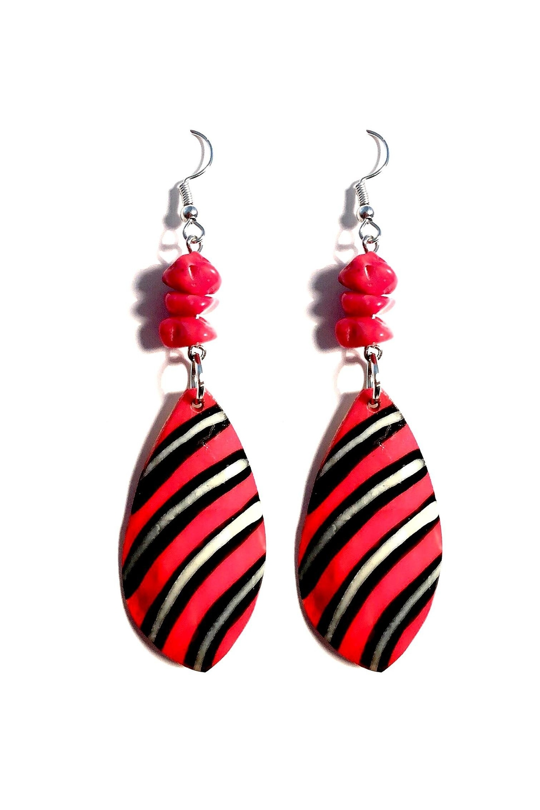 Love's Hangover Creations Red Coral Earrings - Main Image