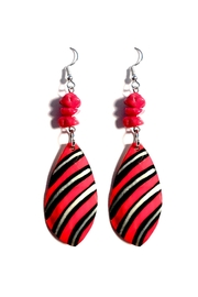 Love's Hangover Creations Red Coral Earrings - Front cropped