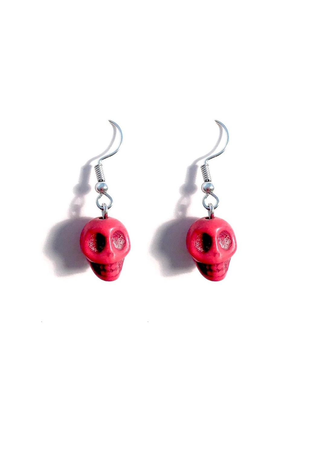 Love's Hangover Creations Red Skull Earrings - Main Image