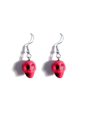 Love's Hangover Creations Red Skull Earrings - Product Mini Image