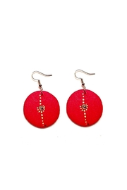 Love's Hangover Creations Red Swahili Earrings - Front cropped