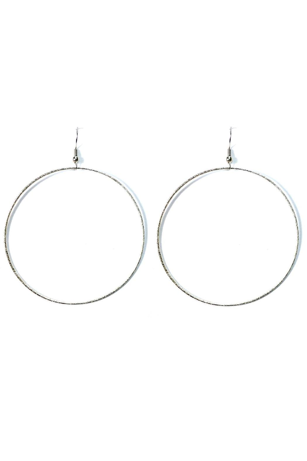 Love's Hangover Creations Silver Hoop Earrings - Main Image
