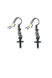 Love's Hangover Creations Small Cross Earrings - Product Mini Image