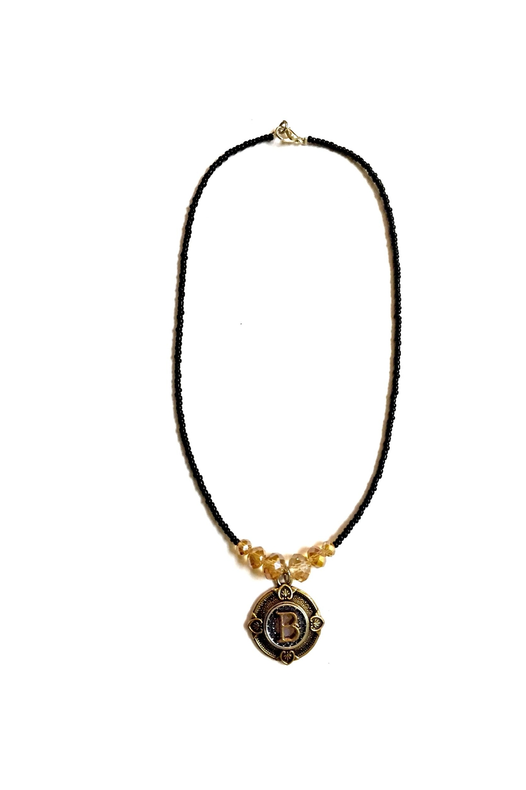 Love's Hangover Creations Steampunk Initial Necklace - Main Image